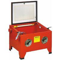 Varan Motors - NESB-09 Cabine de sablage - microbilleuse - sableuse à manchons 90 litres avec Accessoires