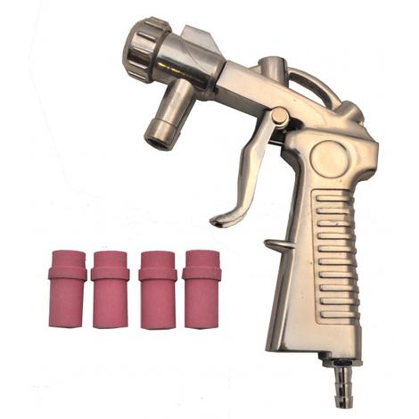 Varan Motors - NESB-14-1 Sandblasting gun + 4 nozzles for sand blasting cabin and Mobil Sand