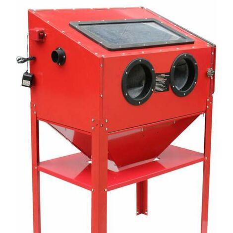 Varan Motors - NESB-16D Sandblasting cabinet, microbeader, sandblaster with professional sleeves 220 liters and Accessories