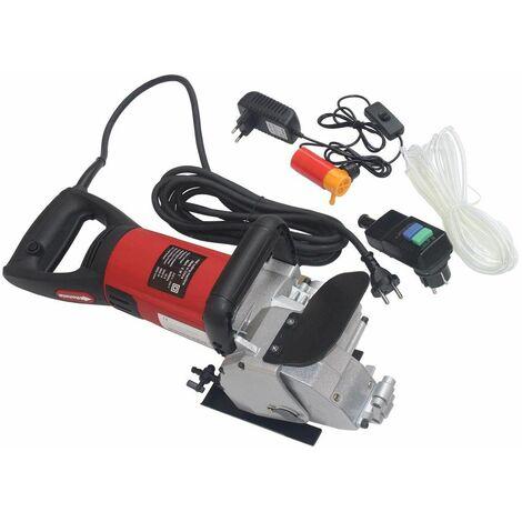 Varan Motors - NEWCM-01 Rainureuse à matériaux 3000W 6500t/min à sec ou à l'eau - Rouge