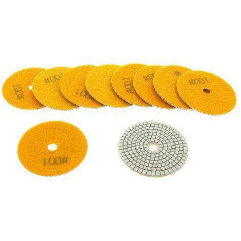Varan Motors - NEWGP-01-2 10pcs diamond pads 100mm grit 100 for water polishing, water polisher