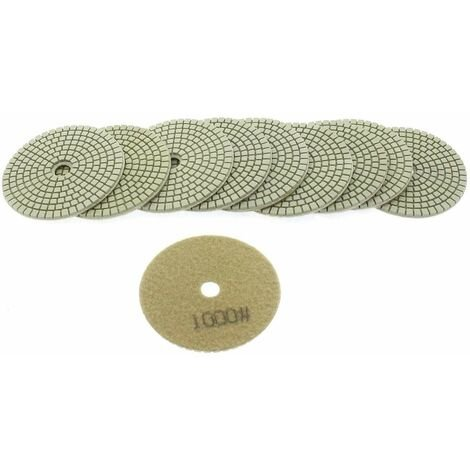 Varan Motors - NEWGP-01-6 10pcs diamond pads 100mm grit 1000 for water polishing, water polisher