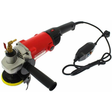 Varan Motors - NEWTG-06 Pulidora de agua 1400W 230V, Ø100mm 1000-8100 rpm, Pulidora de agua, lijadora húmeda