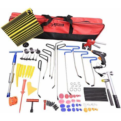 Varan Motors - PDR2 Débosselage sans peinture, kit d'outils complet 86 pièces, outil de réparation de carrosserie et panneaux de carrosserie - Rouge