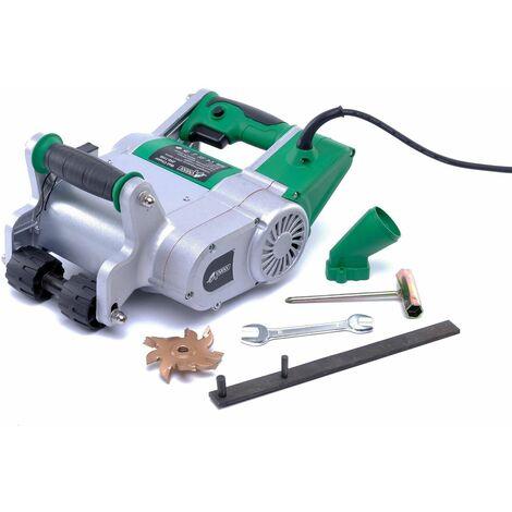 4,8 KW électrique Rainureuse Rainurage avec 5 lames de scie 40x42mm FR