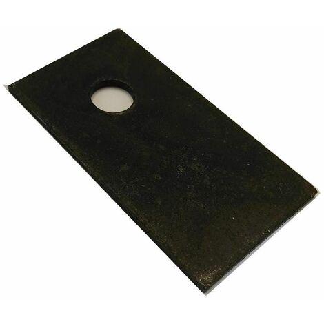 Varan Motors - rectangblade Lame de rechange rectangulaire pour broyeur de végétaux thermique 93022 - Noir