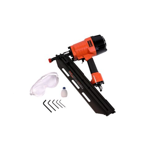 Varan Motors - RHF9021C Pneumatic nailer with frame Pneumatic nailer for nails of 50-90MMM 21°.