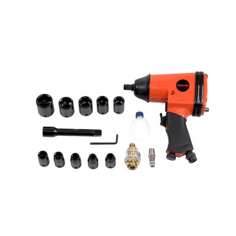 Varan Motors - RP7808 Pneumatic Impact wrench 1/2'' 310Nm, 17 pieces, Screw gun Pneumatic