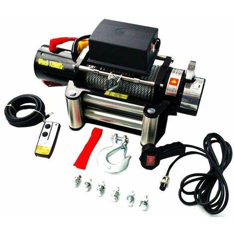 Varan Motors - SC12.0X Cabrestante eléctrico 12V 5443KG 4800W, cabrestante con cable longitud 28m por 9.1mm