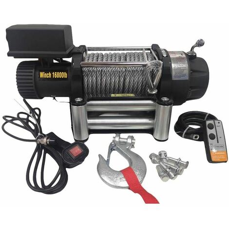Varan Motors - SC16-8X-2 Cabrestante eléctrico 12V 7620KG 4500W, longitud de cable 26m Ø11mm