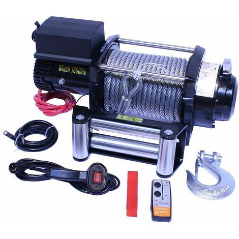Varan Motors - SC16-8X Treuil électrique 12V 7620KG 4500W, Treuil à câble longueur 28m Ø11.5mm
