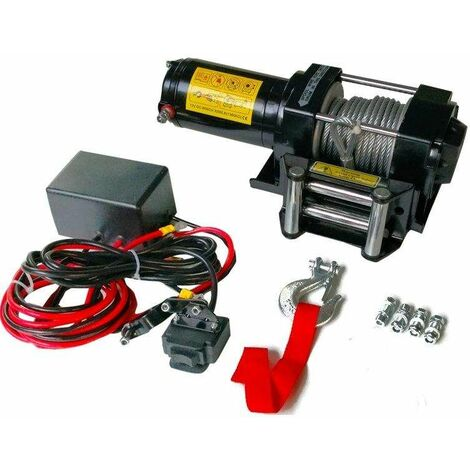 Varan Motors - sc3.0X Cabrestante eléctrico 12V 1360KG 1000W, cable de 9.2m Ø 5.5mm