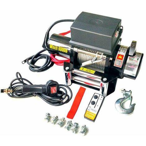 Varan Motors - SC6.0X Treuil électrique 12V 2721KG 3300W, Treuil à câble longueur 20m Ø7.2mm