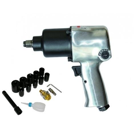 Varan Motors - SPT-10303k 1/2'' AIR IMPACT HEAVY DUTY WRENCH IMPACT GUN 576NM 17 PCS PNEUMATIC IMPACT GUN