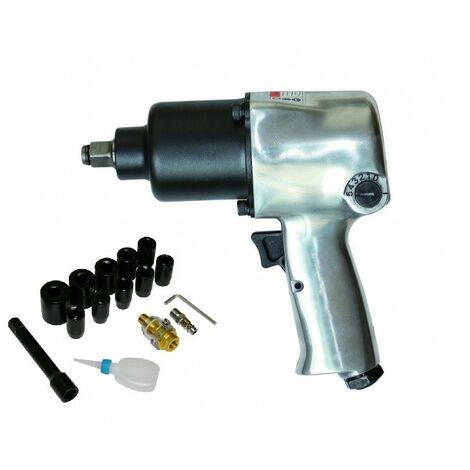 Varan Motors - SPT-10303k Coffret Clé à chocs Pneumatique 1/2'' 576Nm, 17 pièces, Visseuse Pneumatique - Gris