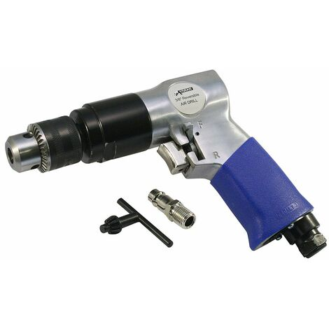 Varan Motors - SPT-11207B Perceuse Pneumatique réversible, mandrin 10mm, raccord air comprimé 1/4''