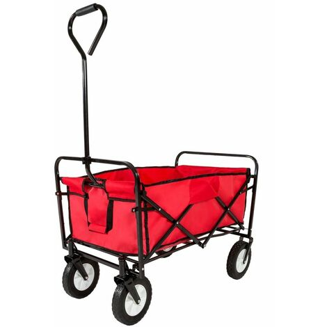 Varan Motors - TC0102 Carrello di trasporto a mano pieghevole, 89 x 54 x 55cm, carico massimo 85kg