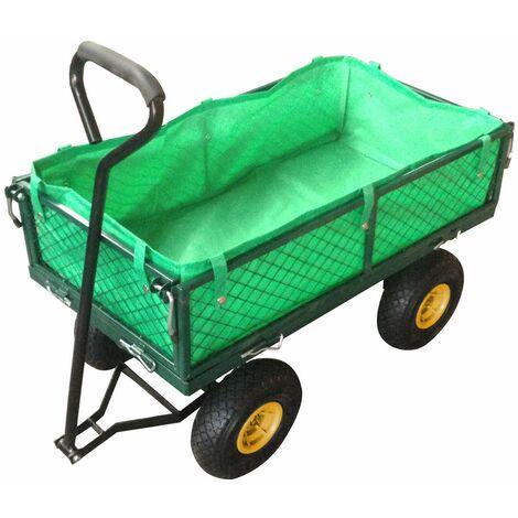 Varan Motors - TC1840A-2 Carro de transporte carretilla de mano de jardin construccion max 200kg