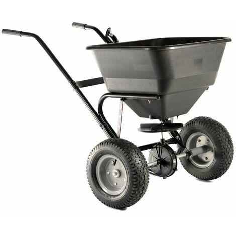 Varan Motors - TC2028 Epandeur d'engrais, semences, sable ou sel, charge jusqu'à 30KG / 45L +Pneus Air