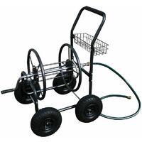 Varan Motors - TC471 Dévidoir, chariot enrouleur de tuyau d'arrosage, max 90mètres