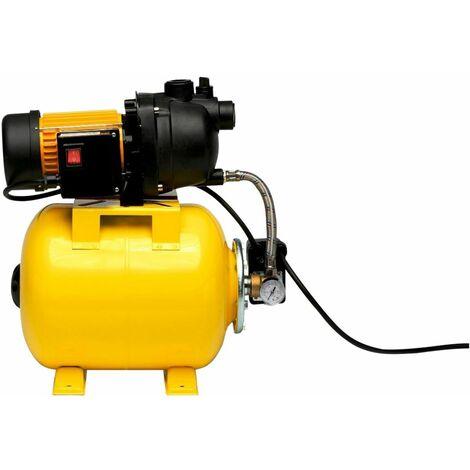 Varan Motors - TP03108 Groupe hydrophore, Groupe surpresseur 1200W 3800L/H avec réservoir de 20L - Gelb