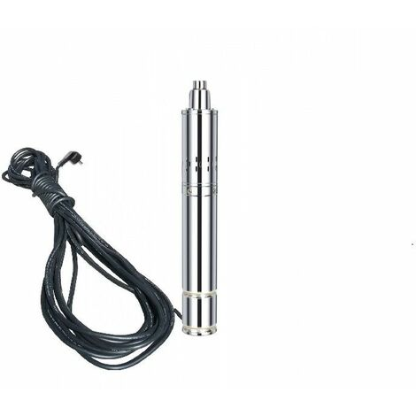 Varan Motors - TSSM08-40-028 Bomba de agua sumergida para pozos profundos o perforación 40m 280w, 0.8m³/h + 15m de cable - Grigio