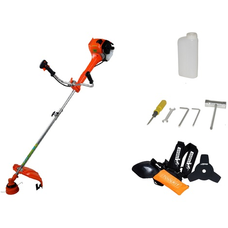 Varan Motors - TT-BC520-2015 PETROL BRUSH CUTTER PETROL STRIMMER 52CC 3HP UPGRADED MODEL, 2 ADAPTERS