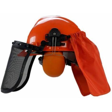 Varan Motors - tt-helmet Careta con protectores de oreja, visera, mascara, visera de desbroce
