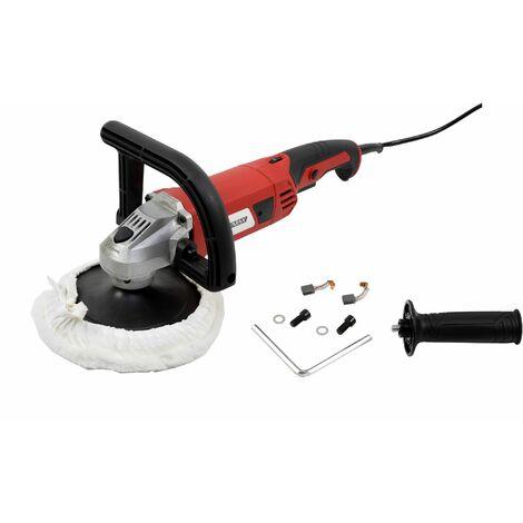 Varan Motors - VAR-CP01-1 Polisseuse Lustreuse électrique 1200W + Disque 180mm et 2 poignées - Rouge