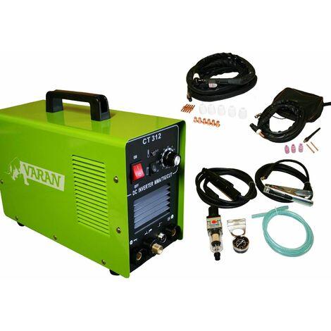 Varan Motors - var-ct312-3 Poste à souder et à découper 3 en 1 TIG, MMA et Plasma Inverter + accessoires - Vert