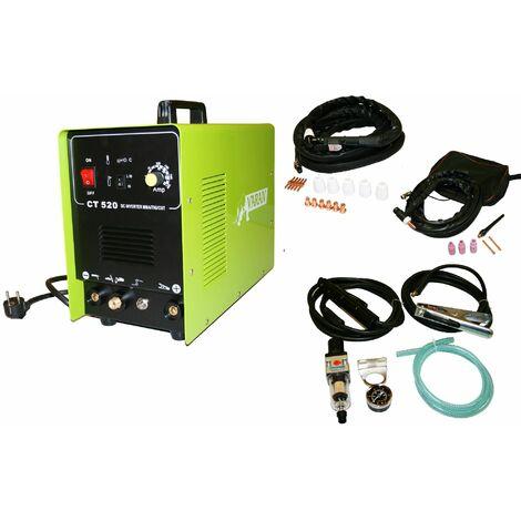Varan Motors - var-ct520-3 Poste à souder et à découper 3 en 1 TIG, MMA et Plasma Inverter+ accessoires - Vert
