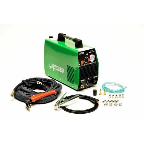 Varan Motors - var-cut50-2 Cortador de plasma 50A portátil CUT-50 inverter + manómetro de presión - Vert