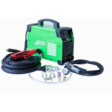 """main image of """"Varan Motors - var-cut50PILOT Découpeur Plasma portatif 50A CUT-50 Inverter + manomètre + fonction ARC PILOT - Vert"""""""