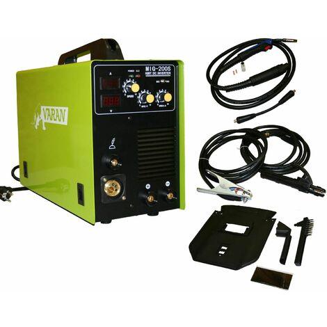 Varan Motors - var-mig200s-2 Poste à souder Inverter 2 en 1 MIG-200S + MMA + Accessoires - Verde