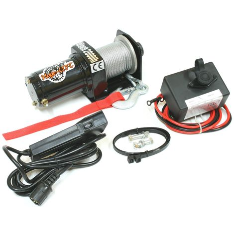 Varan Motors - var-p2000-1a Electric winch 4x4 2000lbs 700W motor 15m length Ø4mm remote control