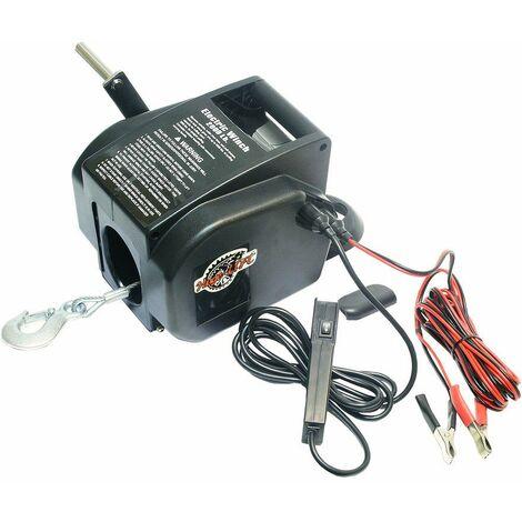 Varan Motors - var-p2000-4 Treuil électrique 12V 907KG, Treuil à câble longueur 9.2m Ø4.75mm pour quad, bateau, auto... - Noir