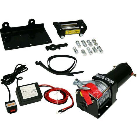 Varan Motors - Var-P3000-1B 12v ELECTRIC WINCH 4X4 3000 / 6000LBS, 1000W 1.34HP MOTOR, 10.2m LENGTH Ø5.2MM