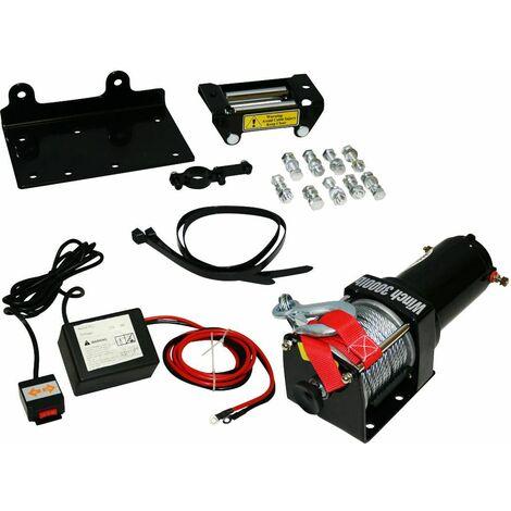 Varan Motors - Var-P3000-1B Treuil électrique 12V 1360Kg / 2720Kg 1000W, Treuil à câble longueur 10.2m Ø5.2mm