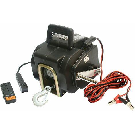 Varan Motors - var-p3500-2 Treuil électrique 12V 1587KG, Treuil à câble longueur 10.2m Ø5.2mm pour quad, bateau, auto... - Noir