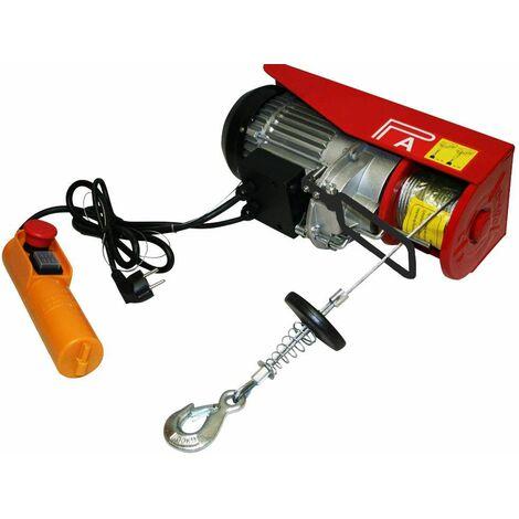 Varan Motors - var-PA200M Treuil palan électrique 230V 100 / 200KG 510W avec télécommande - Rouge