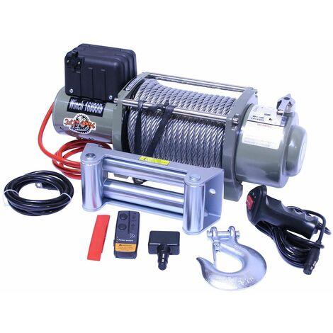 "main image of ""Varan Motors - var-sc16800 CABRESTANTE ELECTRICO 12V 7620KG 4200W, CABLE DE 28M Ø11.5MM + MANDO A DISTANCIA - Gris"""