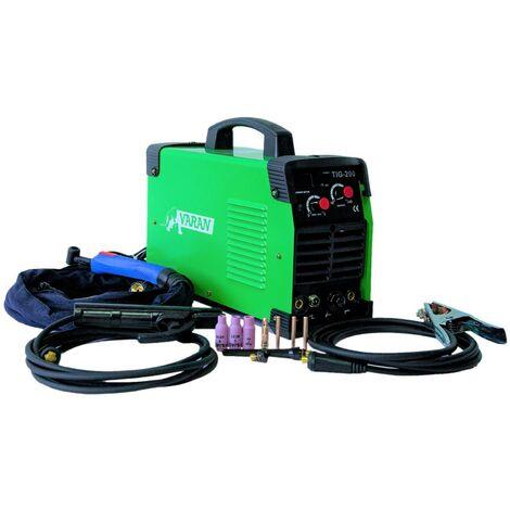 Varan Motors - var-tig200s Poste à souder TIG, portatif et Inverter + ARC 200 Ampères + Accessoires