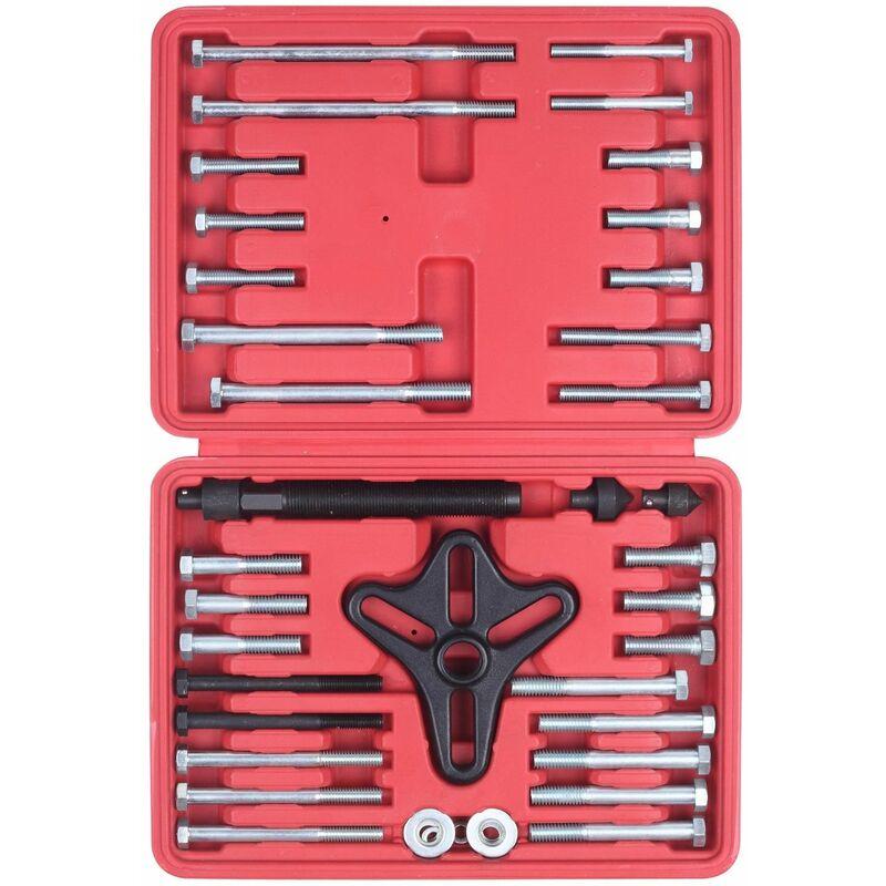 VT01008 Caja extractora de 46 piezas para el extractor de equilibrio armónico, volante y polea, extractor de volante - Negro - Varan Motors