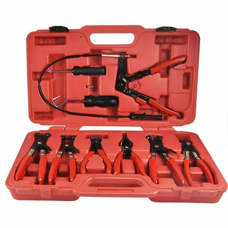 Varan Motors - VT01068 Kit for removing and installing 10 pieces of circlip clips. Clip pliers