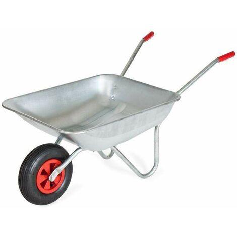Varan Motors - WB4024A 80-liters galvanized wheelbarrow, 120kg max