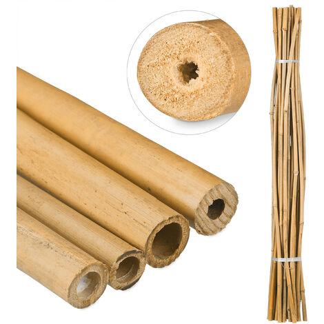 Varas de Bambú, Tutores para Plantas, Bambú Natural, 150 cm, Color natural
