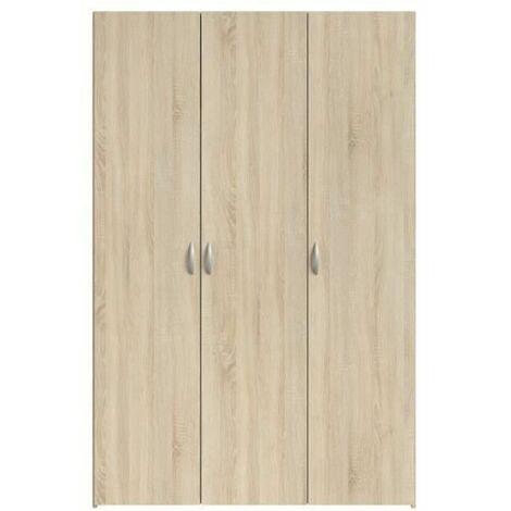 "main image of ""VARIA Armoire 3 portes decor chene L120 cm"""