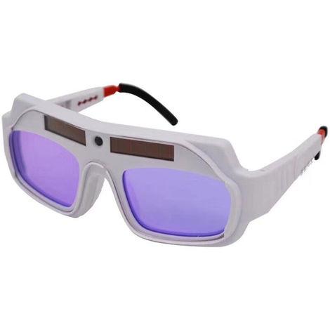 variables ligeras gafas de soldadura electrica automatica de soldar con Strong gafas protectoras de luz y ultravioleta, Negro