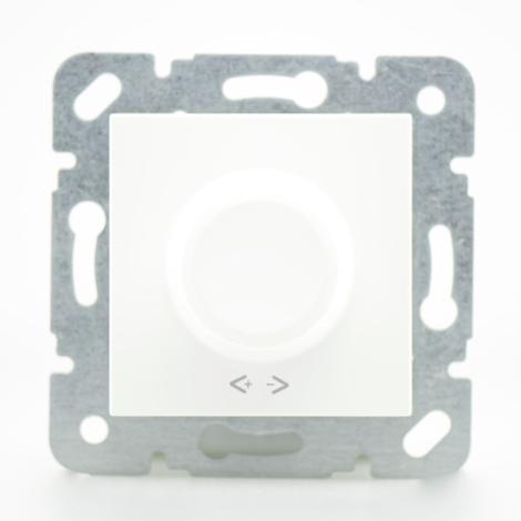 Variateur 600W blanc - (Méca+touche) gamme Karre Novella