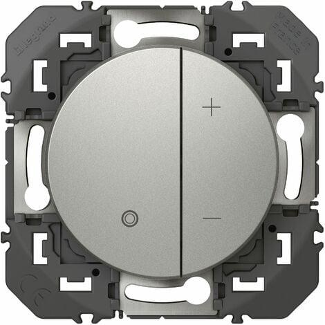Variateur toutes lampes - Dooxie - 2 fils sans neutre - Aluminium - Legrand
